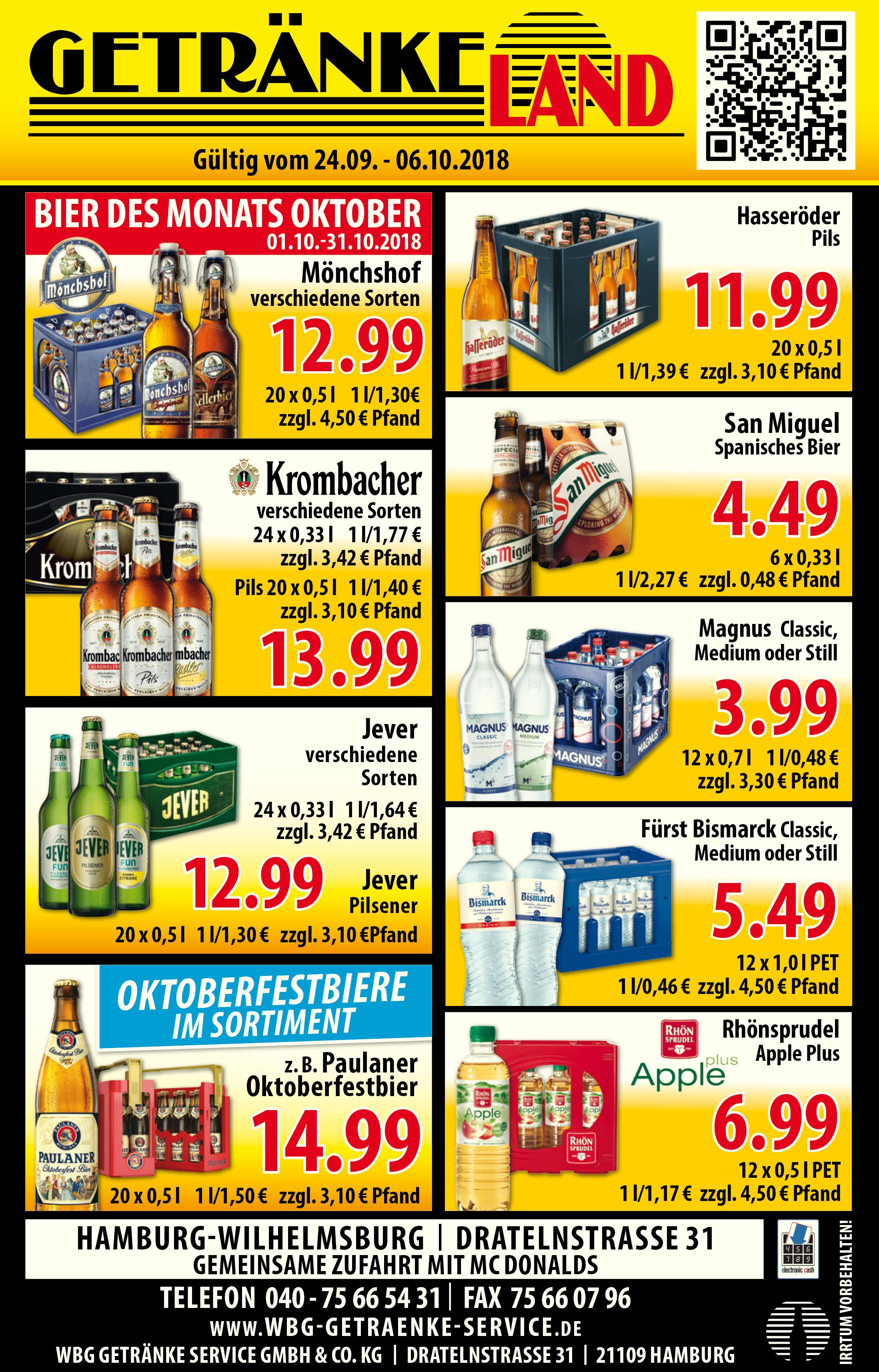 Angebote/Werbung « WBG Getränke Service GmbH & Co.KG
